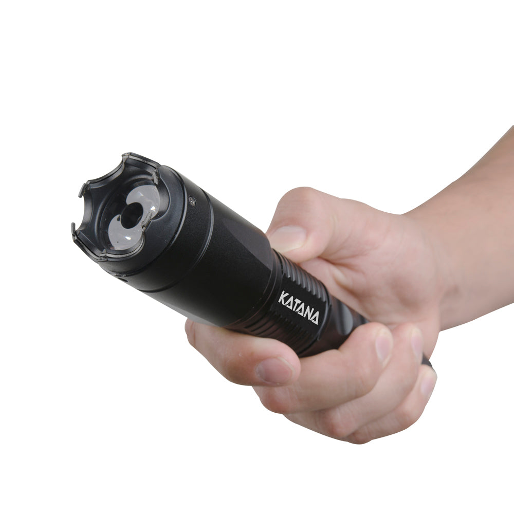 Stun Gun Flashlight & Glass Breaker Combo - Katana