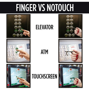 NoTouch Keychain Antimicrobial Handtool