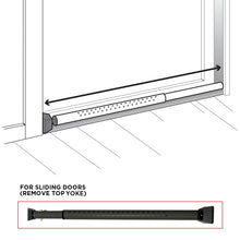 Load image into Gallery viewer, DoorKeeper Adjustable Security door bar with Alarm