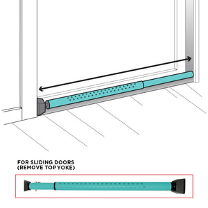 DoorKeeper Adjustable Security door bar with Alarm