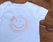 Load image into Gallery viewer, One Happy Breastfed Baby Girl Bodysuit