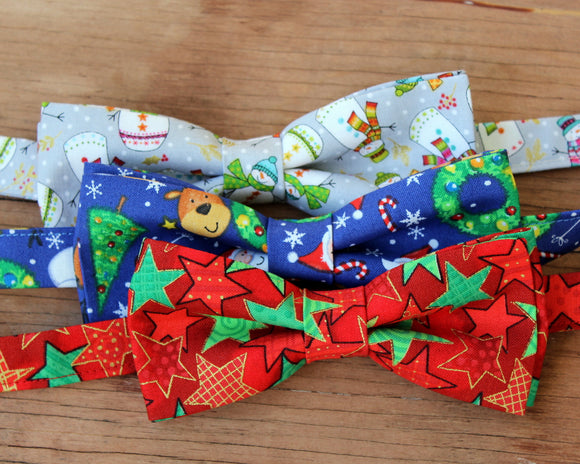 Christmas Holiday Bow Ties for Men and Boys