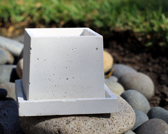 Small Square Planter with Base