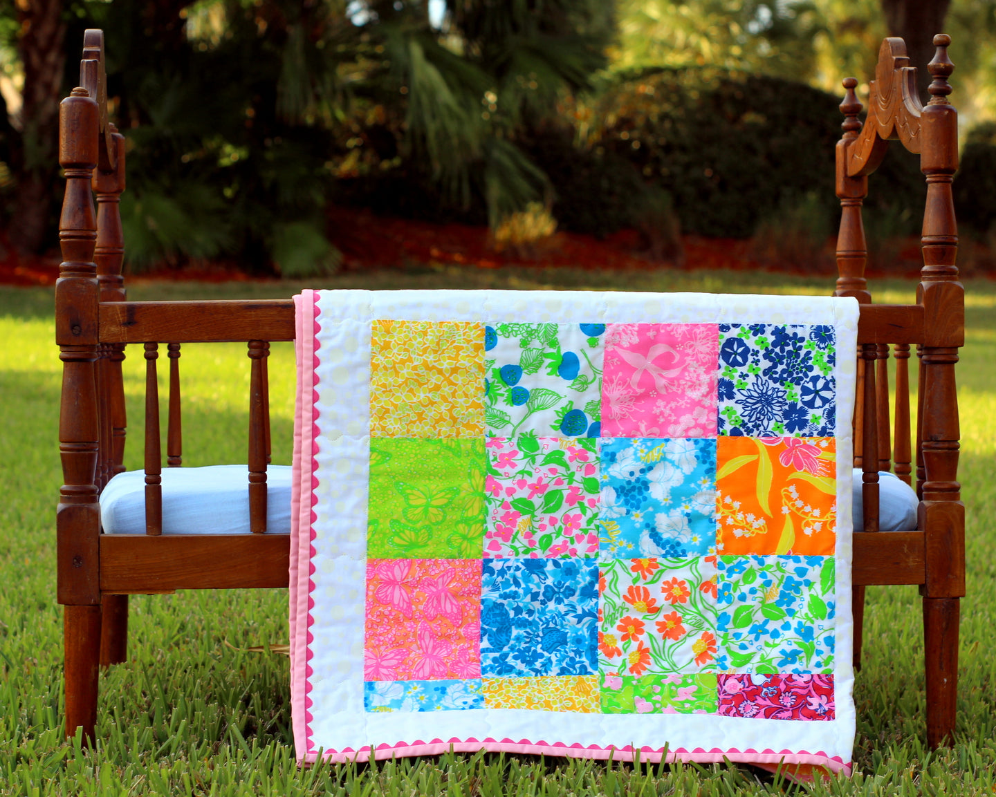 Lilly Pulitzer Print Small Quilt