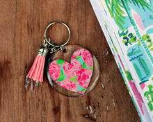 Load image into Gallery viewer, Tropical Round Key Chains