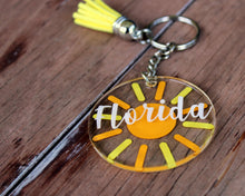 Load image into Gallery viewer, Florida Sun Key Chain