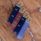 Preppy Wristlet Cotton Keychains