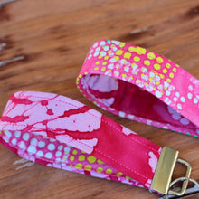 Load image into Gallery viewer, Pink Batik Wristlet Key Fob