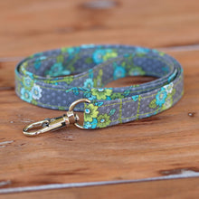 Load image into Gallery viewer, Gray Floral Lanyard