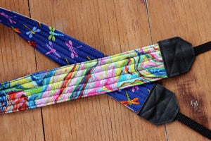 Dragonflies and Watercolor Camera Strap