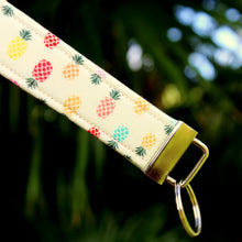 Load image into Gallery viewer, Preppy Pineapple Wristlet Key Holder
