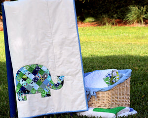 Patchwork Elephant Baby Quilt