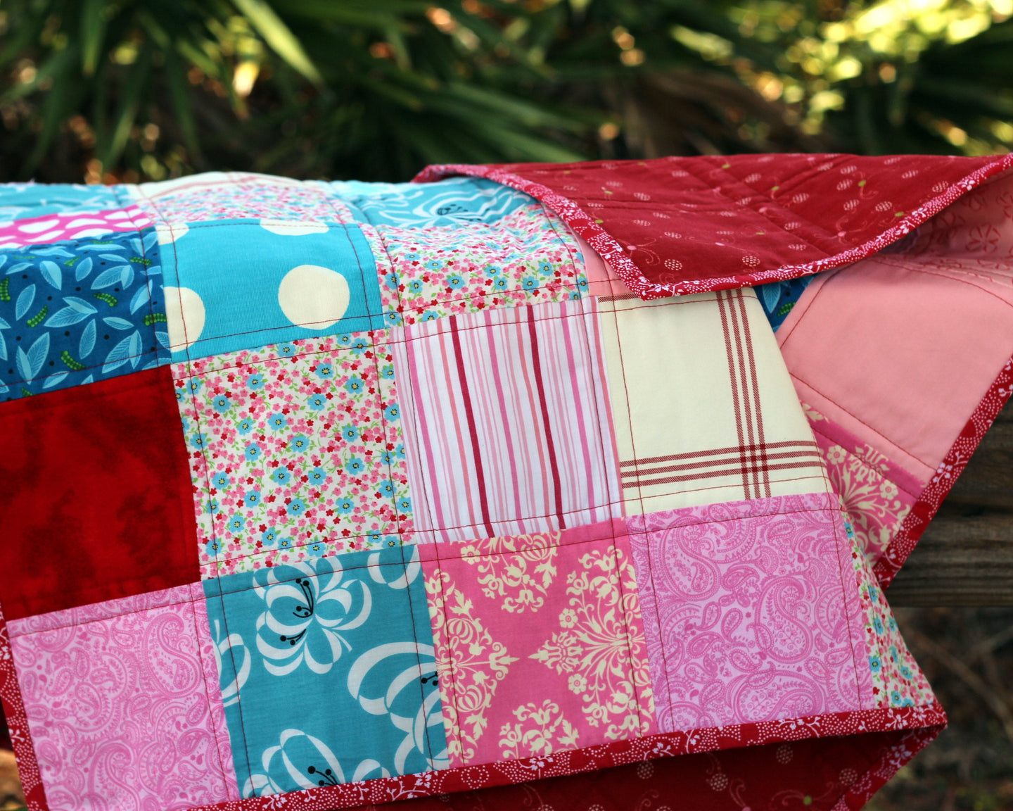 Pink Patchwork Small Quilt