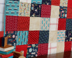 Beachy Reds and Blues Baby Quilt