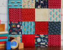 Load image into Gallery viewer, Beachy Reds and Blues Baby Quilt