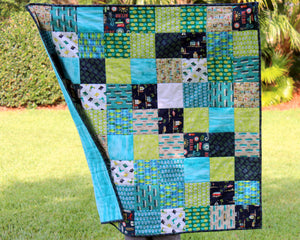 Beachy Blues and Greens Baby Quilt