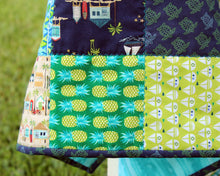 Load image into Gallery viewer, Beachy Blues and Greens Baby Quilt
