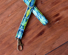 Load image into Gallery viewer, Blue Green Fishy Lanyard