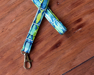 Blue Green Fishy Lanyard
