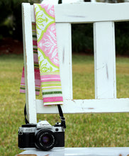Load image into Gallery viewer, Damask and Stripes Camera Strap Cover