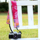 Pink and More Batik Camera Strap Cover