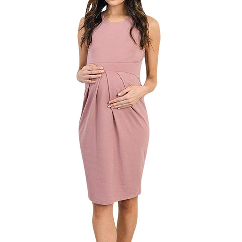 MUQGEW Maternity Ruffles  Dress