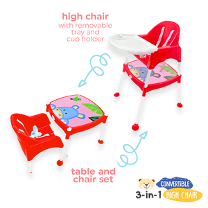 3-in-1 Convertible High Chair