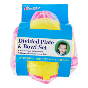 Hippo Divided Plate and Bowl Set