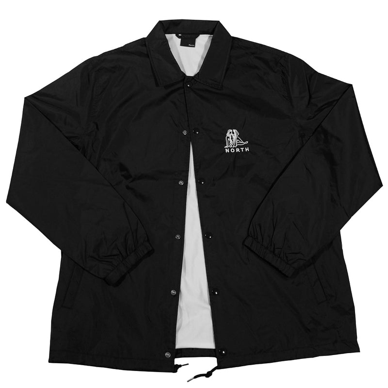 North Zodiac Logo Coach Jacket - Black