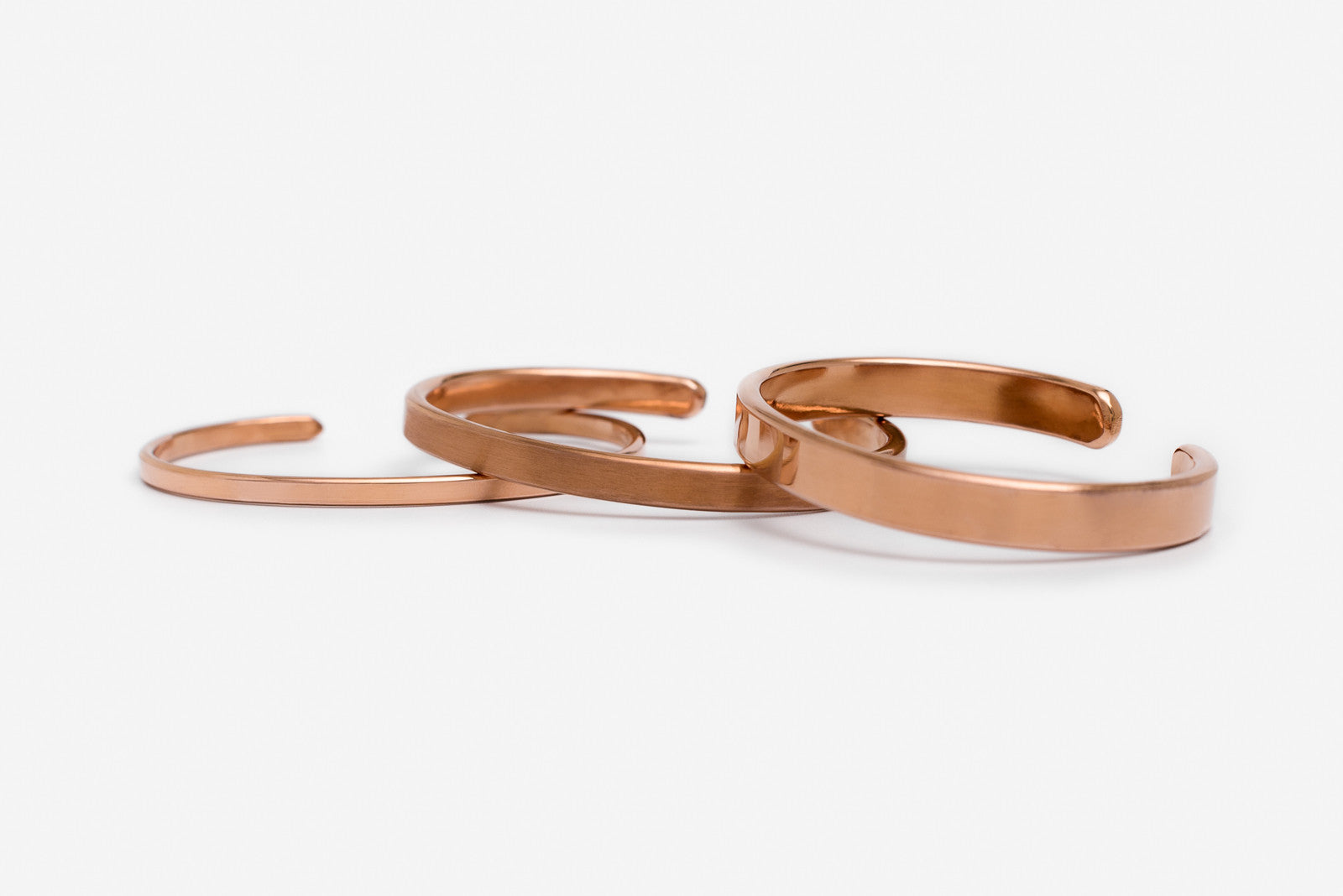 Copper Bracelet - 3mm - Polished