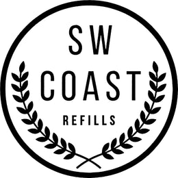 SW Coast Refills Zero Waste Weymouth Logo Black and White Circular Retail Business Logo
