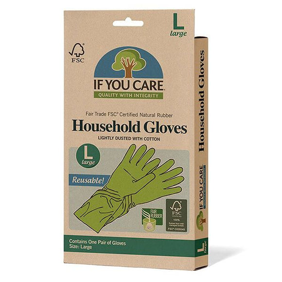 If You Care Large Latex Household Gloves - 1 Pair - SW Coast Refills