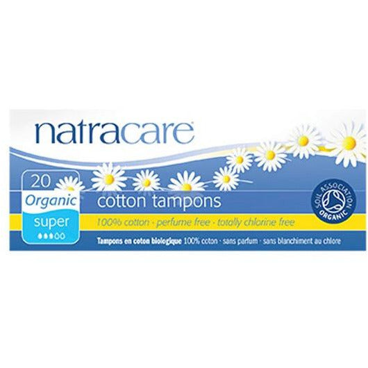 Natracare Organic Cotton Tampons 20 - Super - Non-Applicator - SW Coast Refills