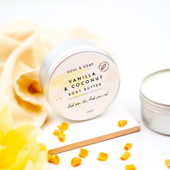 Soul & Soap Vegan Body Butter Vanilla & Coconut - SW Coast Refills