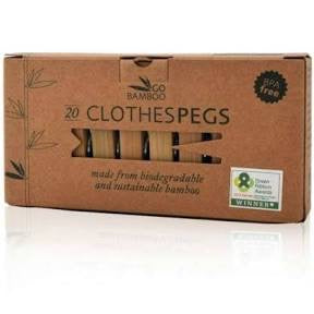 Bamboo Clothes Pegs - 20 pack - SW Coast Refills