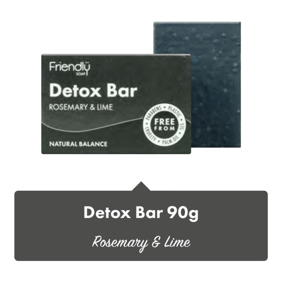 Friendly Soap Rosemary & Lime Detox Soap Bar - 95g - SW Coast Refills