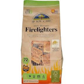 Ecofriendly 100% Biomass BBQ and Firelighters - 72 pack - If You Care - SW Coast Refills