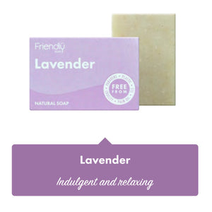 Friendly Soap Lavender Soap Bar - 95g - SW Coast Refills