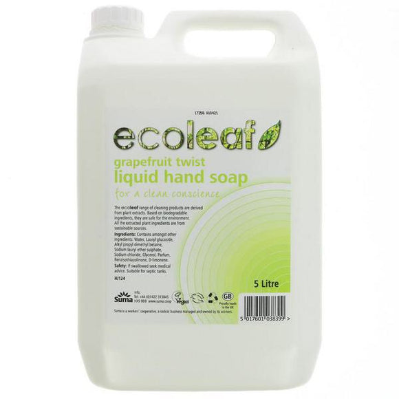Ecoleaf Grapefruit Twist Hand Soap Refill - SW Coast Refills