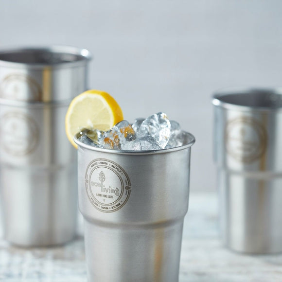 Stainless Steel Pint Glasses - Set of 4 - SW Coast Refills