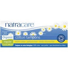 Natracare Organic Cotton Tampons 20 - Regular - Non-Applicator - SW Coast Refills