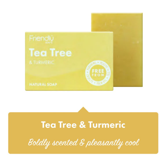 Friendly Soap Tea Tree & Turmeric Soap Bar - 95g - SW Coast Refills