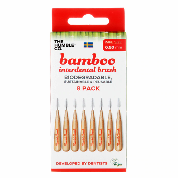 Bamboo Interdental Brushes - 8 pack - 0.50mm - SW Coast Refills