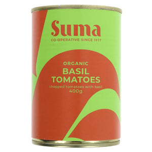 Organic Chopped Tomatoes with Basil - 400g - SW Coast Refills
