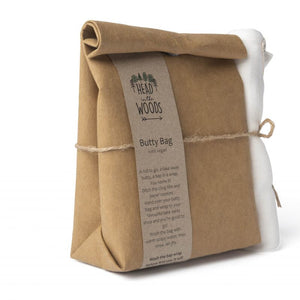 Brown Butty Bag with Organic Cotton Bap Wrap - SW Coast Refills