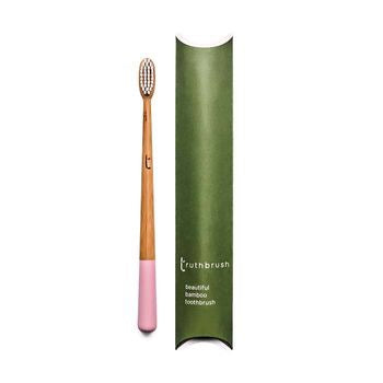 Truthbrush Bamboo Toothbrush - Pink - SW Coast Refills