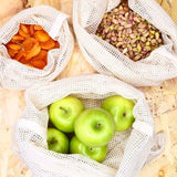 Organic Mesh Cotton Produce Bag Set - SW Coast Refills