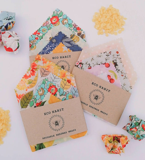 Handmade Beeswax Wraps 4 Pack - SW Coast Refills