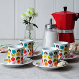 Espresso Cups & Saucers - Set of 4 - SW Coast Refills