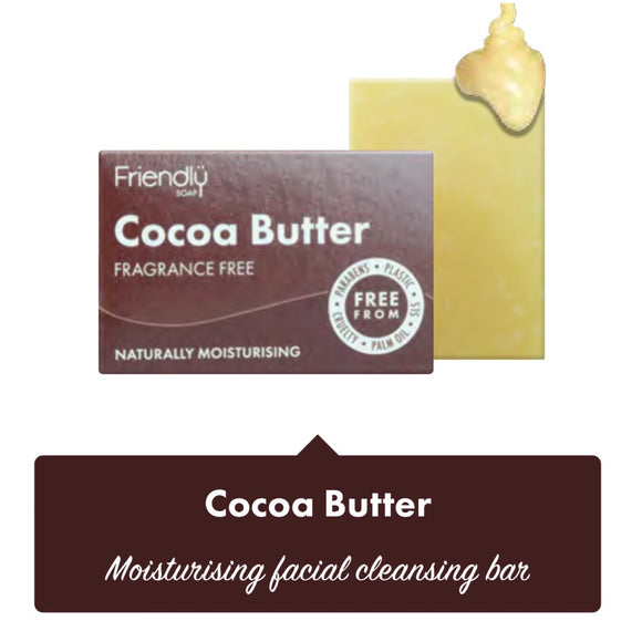 Friendly Soap Cocoa Butter Facial Cleansing Bar - 95g - SW Coast Refills